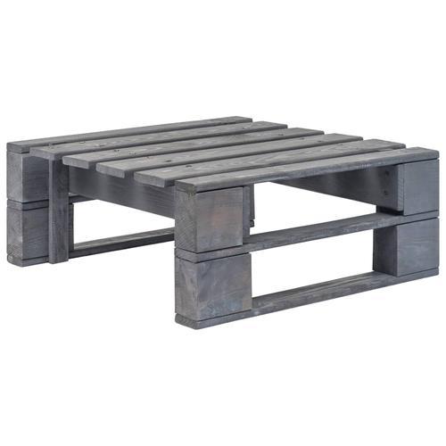 vidaXL Garten-Palettenhocker Holz Grau