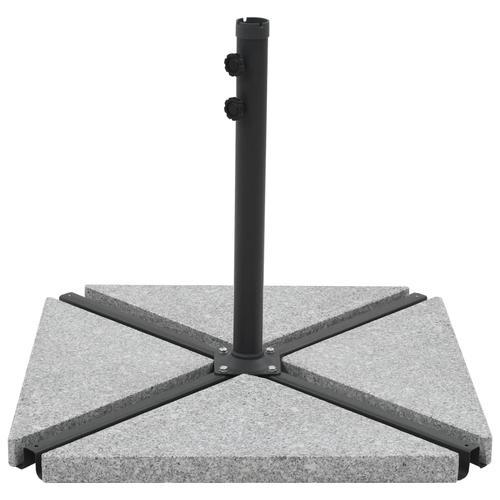 vidaXL Sonnenschirm-Gewichtsplatten 4 Stk. Dreieckig Garu Granit 60 kg