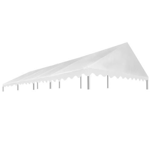 vidaXL Partyzeltdach Weiß 4 x 8 m 450 g/m²