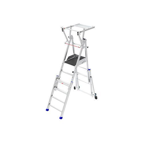 C. Podesttreppe verstellbar; 6 bis 9 Stufen; Zur Benutzung auf Treppen geeignet