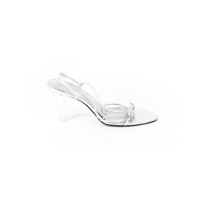 Nina - Nina Heels: Silver Solid Shoes - Size 8 1/2