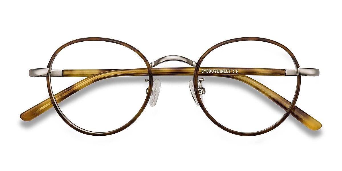 Unisex Round Tortoise Acetate Prescription eyeglasses - EyeBuydirect's Anywhere