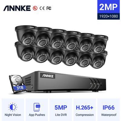 16CH 1080P Lite système de vidéosurveillance 12 pièces 2.0MP caméras dôme de sécurité extérieures
