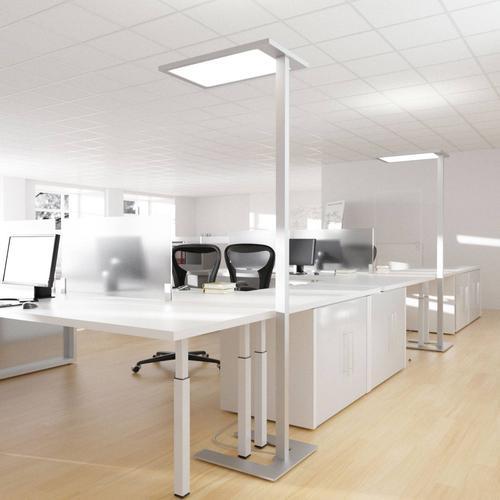 LED-Büro-Stehlampe Javier, Dimmer, direkt-indirekt
