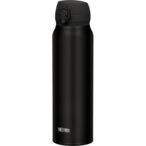 THERMOS Thermoflasche Ultralight black, (1 tlg.), ideal für den Alltag, aus Edelstahl schwarz Campinggeschirr Camping Schlafen Outdoor