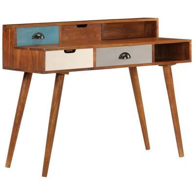 vidaXL Schreibtisch 110 x 50 x 90 cm Akazienholz Massiv