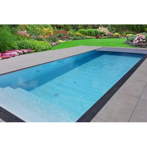 Pool-Komplettset Premium ONE® Überlauf 3,20 x 7,00m mit elektrischer / automatischer Rollladen-Abdeckung