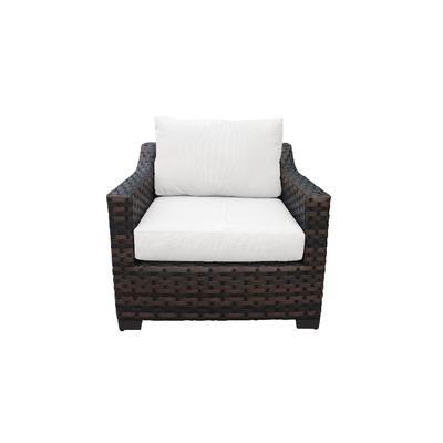 kathy ireland Homes & Gardens River Brook Club Chair in Alabaster - TK Classics Ki043B-Cc-White