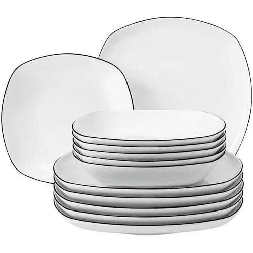 Seltmann Weiden Tafelservice Lido, (Set, 12 tlg.) weiß Geschirr-Sets Geschirr, Porzellan Tischaccessoires Haushaltswaren