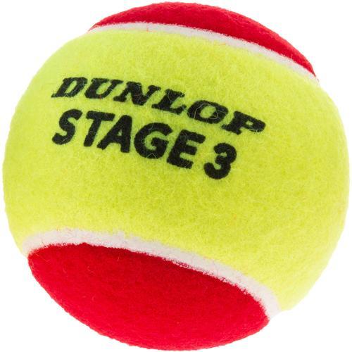 Dunlop STAGE 3 RED 3er Tennisball Kinder in gelb-rot, Größe Einheitsgröße