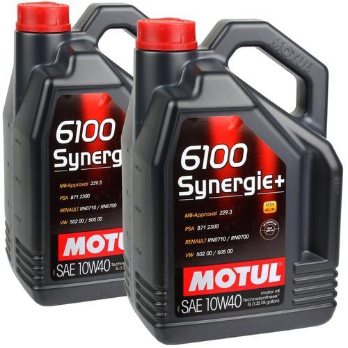 2x 5l Motul 6100 Synergie+ 10w40 Öl Motoröl Porsche Bmw Vw Mb 229.3 108647