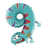 JAKO-O Folienballon Zahl, türkis