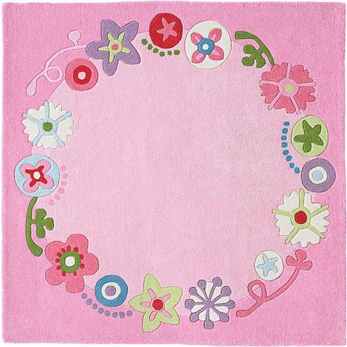 HABA Teppich Blumenkranz, rosa