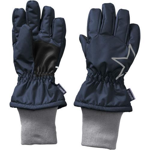 Fingerhandschuh Stern, blau, Gr. 6