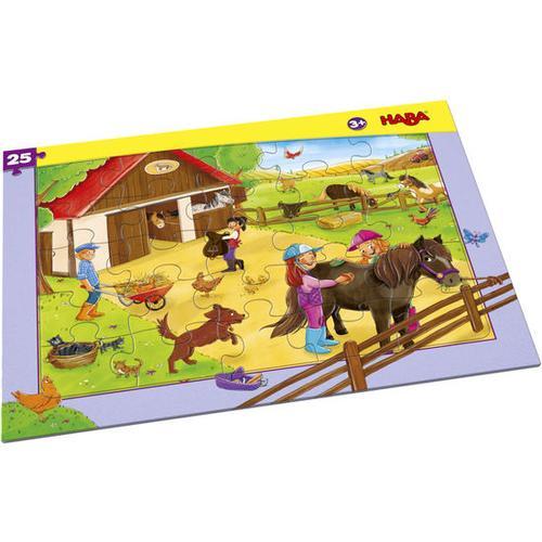 HABA Rahmenpuzzle Pferdehof, bunt