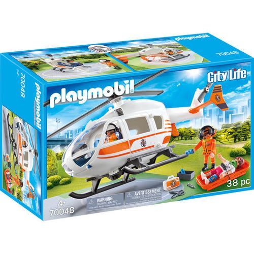 PLAYMOBIL® City Life 70048 Rettungshelikopter, bunt