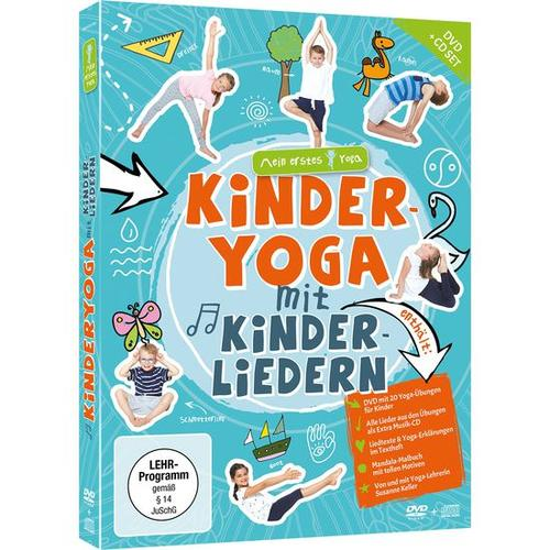 JAKO-O DVD+CD-Set Kinder-Yoga mit Kinderliedern, bunt