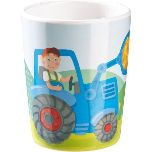 HABA Becher Traktor, bunt