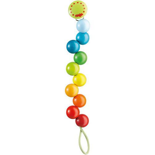 HABA Schnullerkette Regenbogen-Perlen, bunt