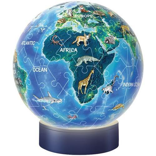 3D Puzzle® Nachtlicht Erde – Puzzle-Ball, bunt