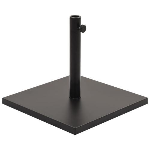 vidaXL Sonnenschirmständer Schwarz Quadratisch 18 kg