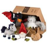 P.L.A.Y. Pet Lifestyle and You Mythical Creatures Set Squeaky Plush Dog Toy, 5 count