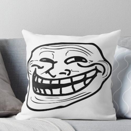 Troll Gesicht Kissen