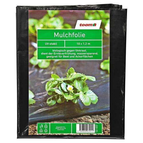 toom Mulchfolie 0,02 mm schwarz 1000 x 120 cm