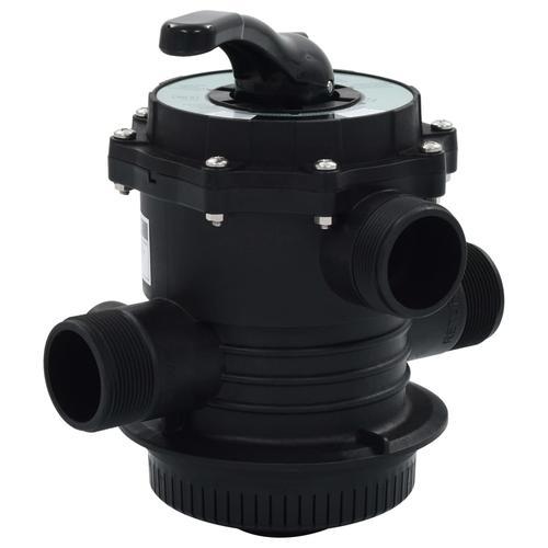 vidaXL Mehrwegeventil für Sandfilter 6-Wege-Ventil ABS 1,5