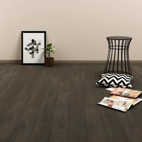 vidaXL PVC Laminat Dielen Selbstklebend 4,46 m² 3 mm Dunkelbraun