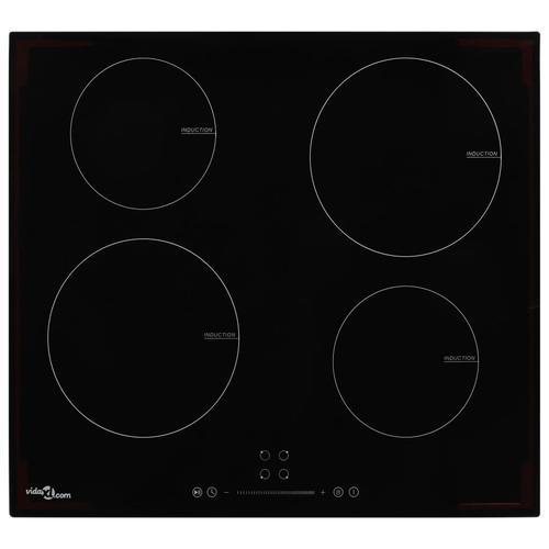 vidaXL Induktionskochfeld mit 4 Brennern Touch-Bedienfeld Glas 7000 W