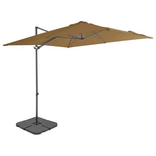 vidaXL Sonnenschirm mit Schirmständer Taupe