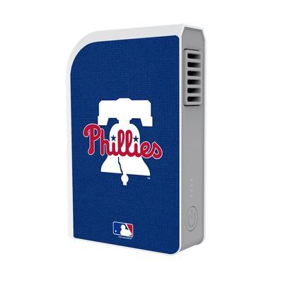 """Philadelphia Phillies Solid 6000 mAh Phone Charging Powerbank & Personal Fan"""