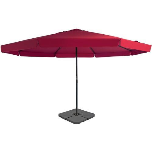 Sonnenschirm mit Schirmständer Rot
