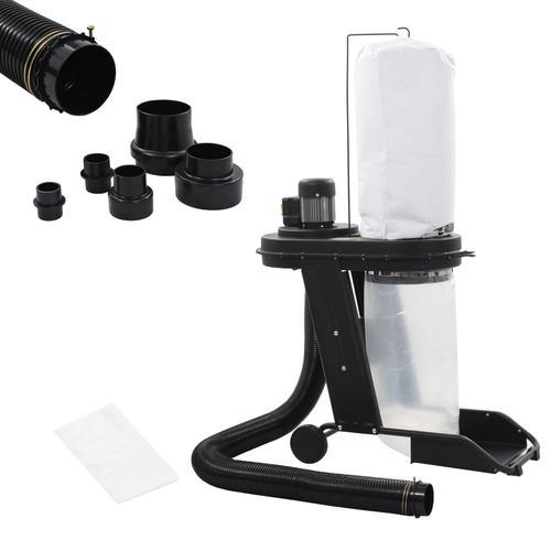 vidaXL Absauganlage mit Adapter Set Schwarz 550 W