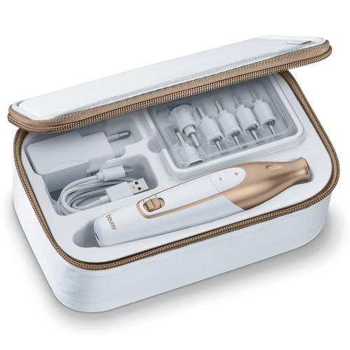 Beurer 10-tlg. Maniküre- und Pediküre Set MP 64 Weiß