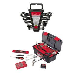 Apollo Tools Tool Sets Black/Red - Household Tool & SAE Ratcheting Wrench Set