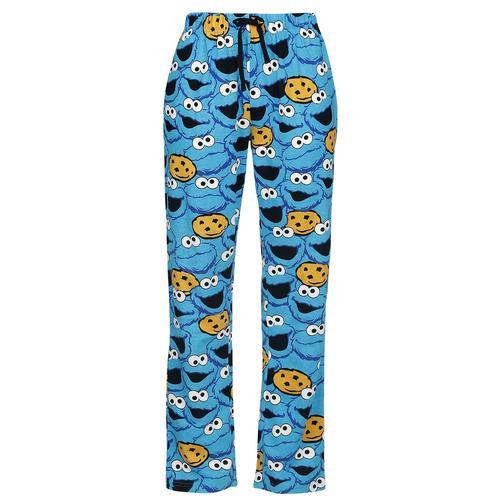 Sesamstraße Krümelmonster - Gesicht Damen-Pyjama-Hose - blau - Offizieller & Lizenzierter Fanartikel