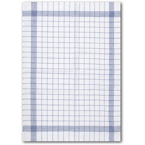 Dyckhoff Geschirrtuch KARO / Halbleinen - 60x80 cm blau Geschirrtücher Küchenhelfer Haushaltswaren