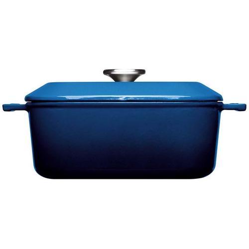 WOLL Kasserolle Iron, Gusseisen, (1 tlg.), 24x24 cm, Induktion blau Kasserollen Töpfe Haushaltswaren