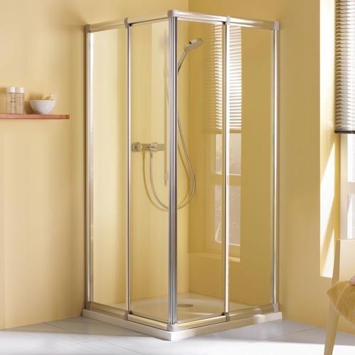 Breuer Dusche Fara Eckeinstieg Schiebetür 4-teilig 80 - 90 cm inkl. CER+ Beschichtung