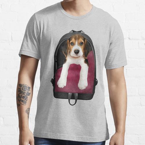 Beagle-Welpen-Rucksack Essential T-Shirt