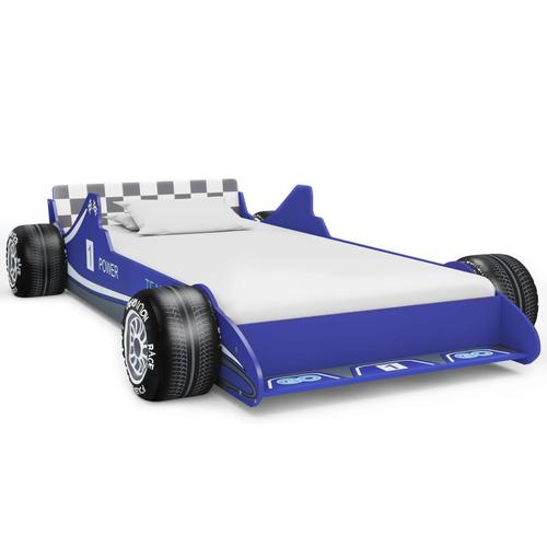 vidaXL Kinderbett im Rennwagen-Design 90 x 200 cm Blau