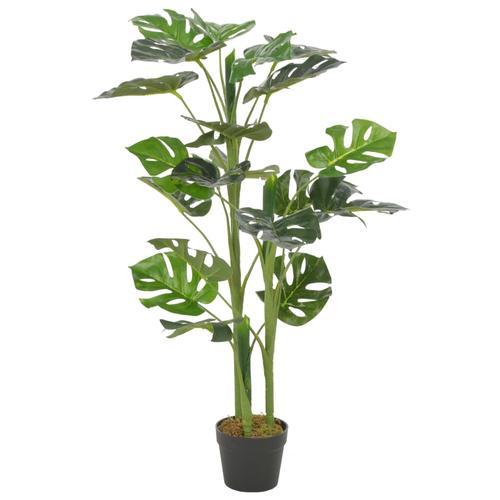 vidaXL Künstliche Pflanze Monstera mit Topf Grün 100 cm
