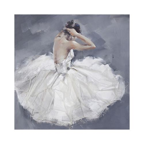 die Faktorei Struktur-Wandbild Ballerina II 100 x 100 cm