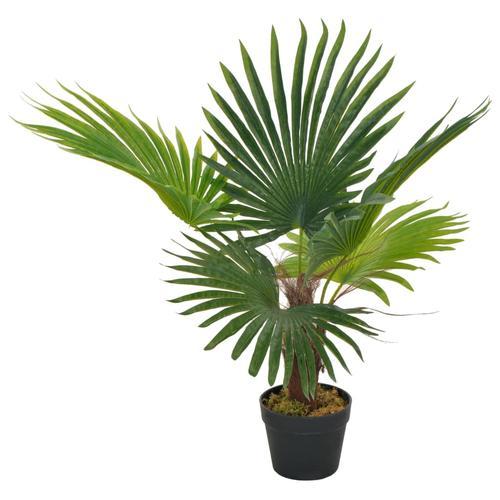 vidaXL Künstliche Pflanze Palme mit Topf Grün 70 cm