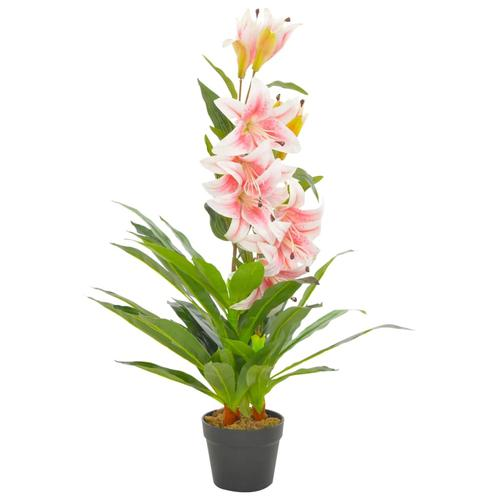 vidaXL Künstliche Lilie mit Topf Rosa 90 cm