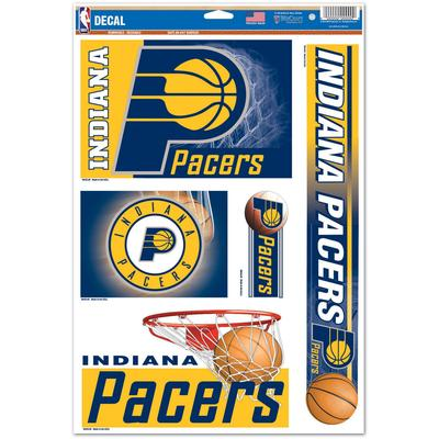 """""""WinCraft Indiana Pacers Five-Pack 11"""""""" x 17"""""""" Multi-Use Decals"""""""