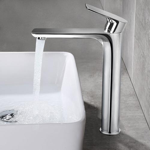 Homelody - Hohe Badarmatur Waschtischarmatur Wasserhahn Bad Mischbatterie Armatur Einhebelmischer