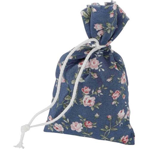 herbalind Duftkissen 4er Set Duftbeutel Rosenblüten Rosendruck blau, (4 St.), Herbalind bunt Dekokissen gemustert Kissen